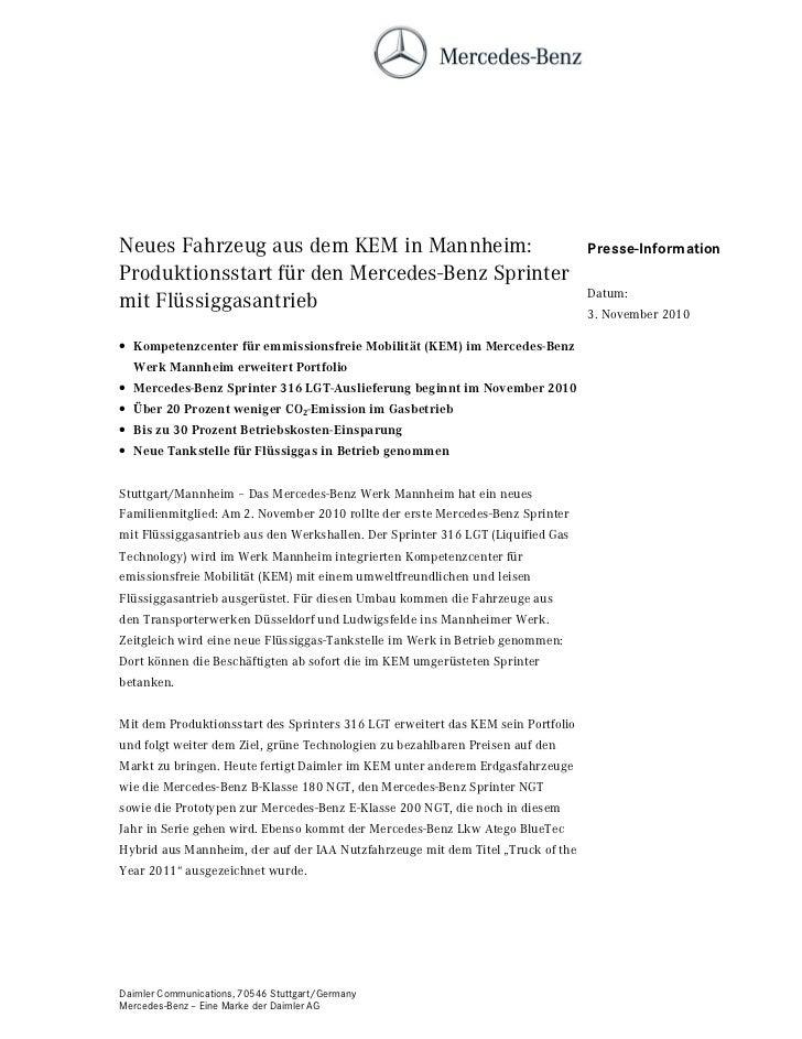 Neues Fahrzeug aus dem KEM in Mannheim:                                           Presse-InformationProduktionsstart für d...