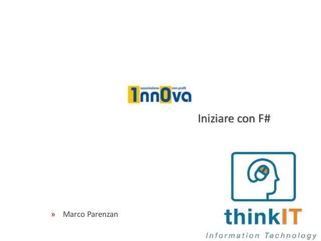 Iniziare con F# » Marco Parenzan
