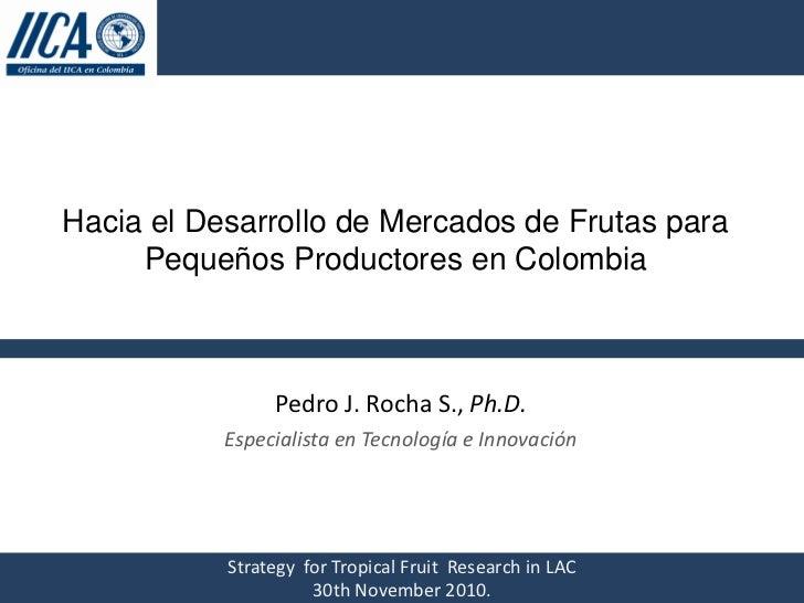 Hacia el Desarrollo de Mercados de Frutas para Pequeños Productores en Colombia, IICA