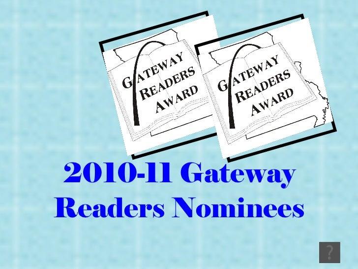 2010-11 Gateway Readers Nominees