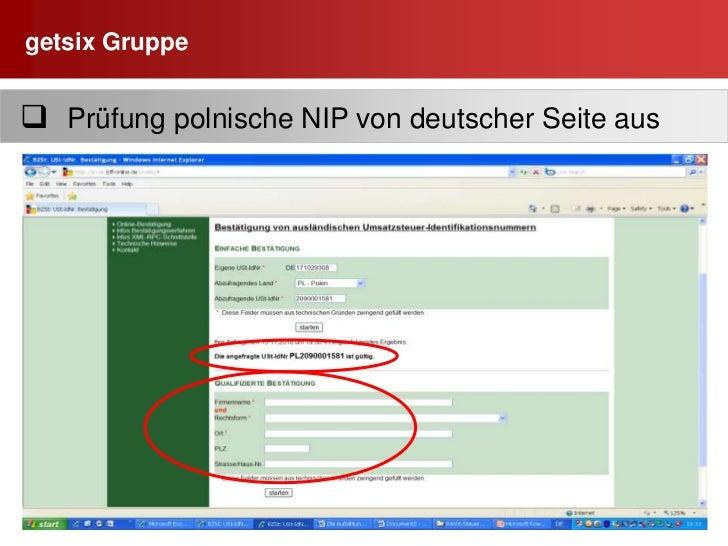 getsix Gruppe<br />15<br />  Name und Anschrift  RG-Emfänger / RG-Aussteller<br /><ul><li>  Korrekte Firmenbezeichnung (Sp...