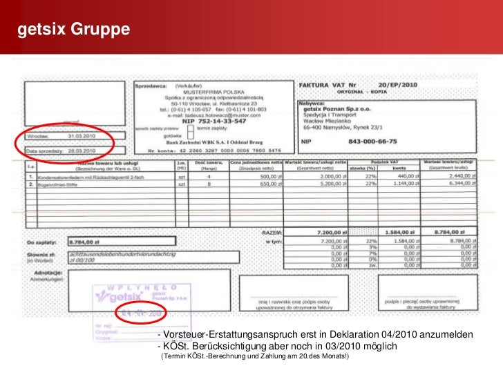 Nachweis der fortlaufenden Nummern durch (EDV) Listen      dokumentieren</li></li></ul><li>getsix Gruppe<br />29<br /> F...