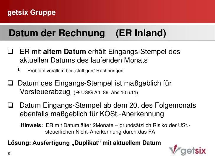 """getsix Gruppe<br />30<br /> Pflichtangaben auf der Rechnung<br />  1.    Bezeichnung""""Faktura VAT""""<br />  2.    Name und An..."""