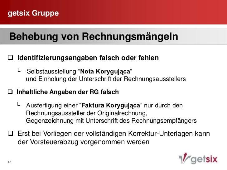 getsix Gruppe<br />40<br /> Datum der Lieferung<br /><ul><li>  Liefer-/ Leistungsdatum ist grundsätzlich auf jeder      Re...
