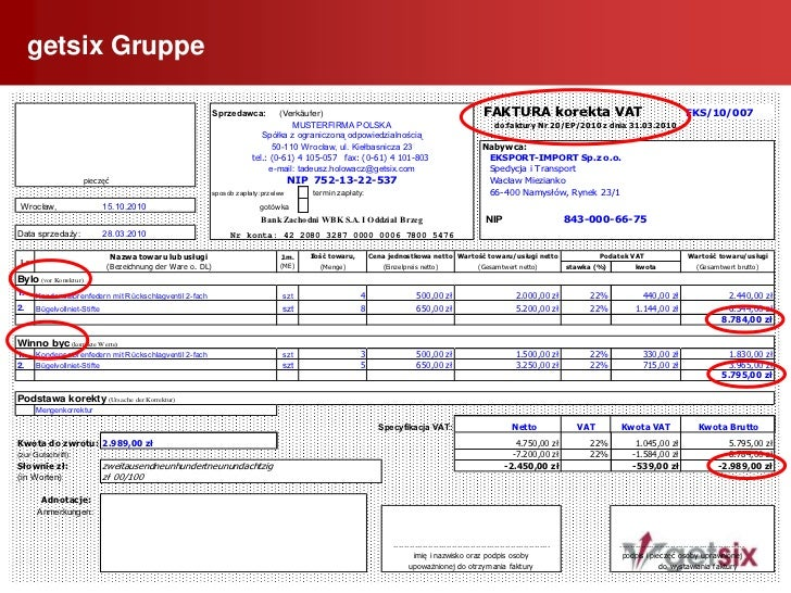 Faktura Korygująca</li></li></ul><li>getsix Gruppe<br />49<br /> Sonstiges zum Thema Rechnungen<br /><ul><li>Inlandsrech...