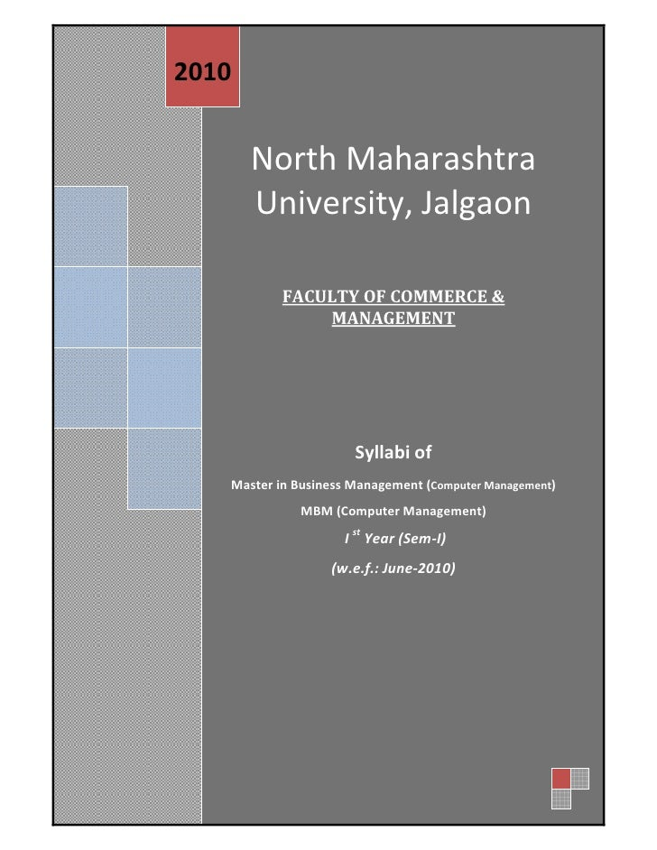 2010                  North Maharashtra                  University, Jalgaon                                        ...