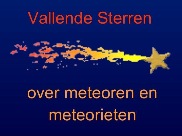 Vallende Sterren over meteoren en meteorieten