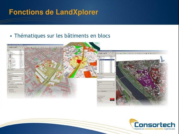 Fonctions de LandXplorer• Thématiques sur les bâtiments en blocs