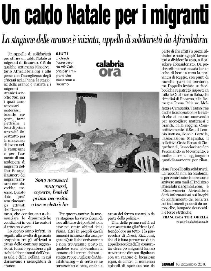 CalabriaOra del 16 dicembre 2010