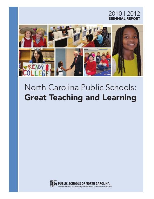 Nc Department Of Public Instruction Report