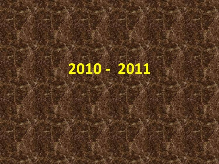 2010 -  2011<br />