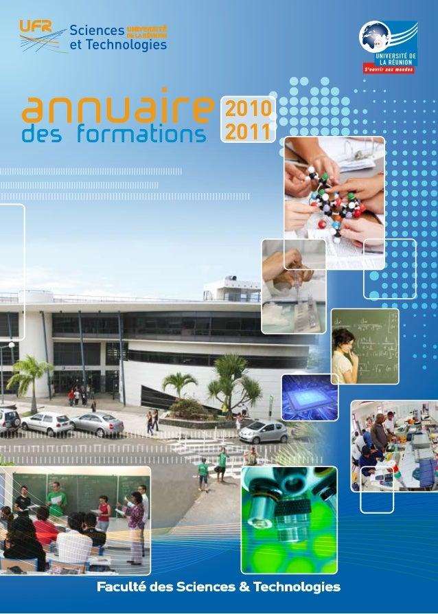 UFR Sciences et Technologies                              Université de La Réunion        ANNUAIRE    DES FORMATIONS      ...