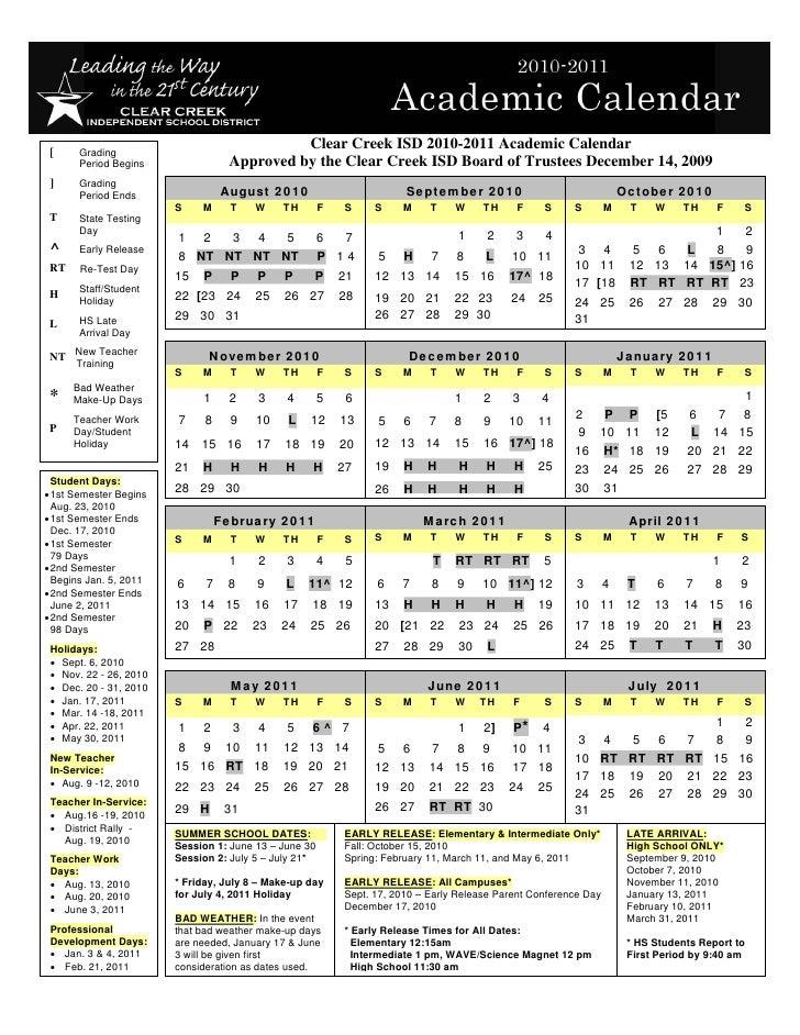2010 2011 Final Bot Approved Calendar