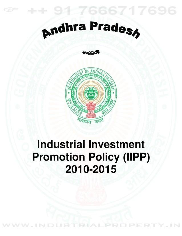 ఆంధర్పర్ శ్                  ే Industrial InvestmentPromotion Policy (IIPP)      2010-2015