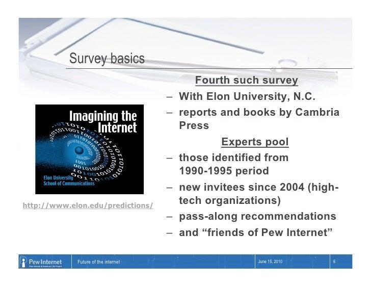 Survey basics                                               Fourth such survey                                       –   ...