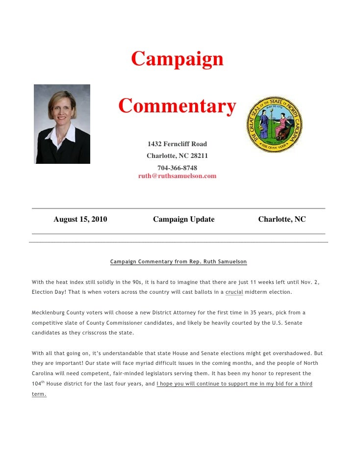Campaign                                    Commentary                                               1432 Ferncliff Road  ...
