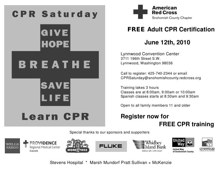 Free Adult Cpr Training