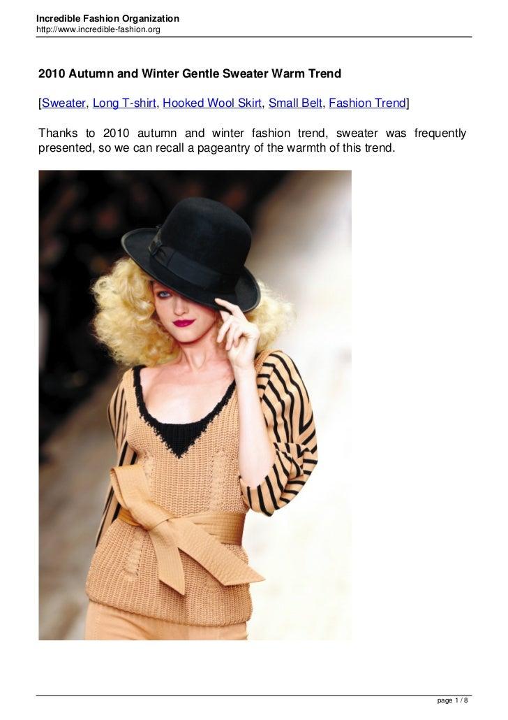 Incredible Fashion Organizationhttp://www.incredible-fashion.org2010 Autumn and Winter Gentle Sweater Warm Trend[Sweater, ...