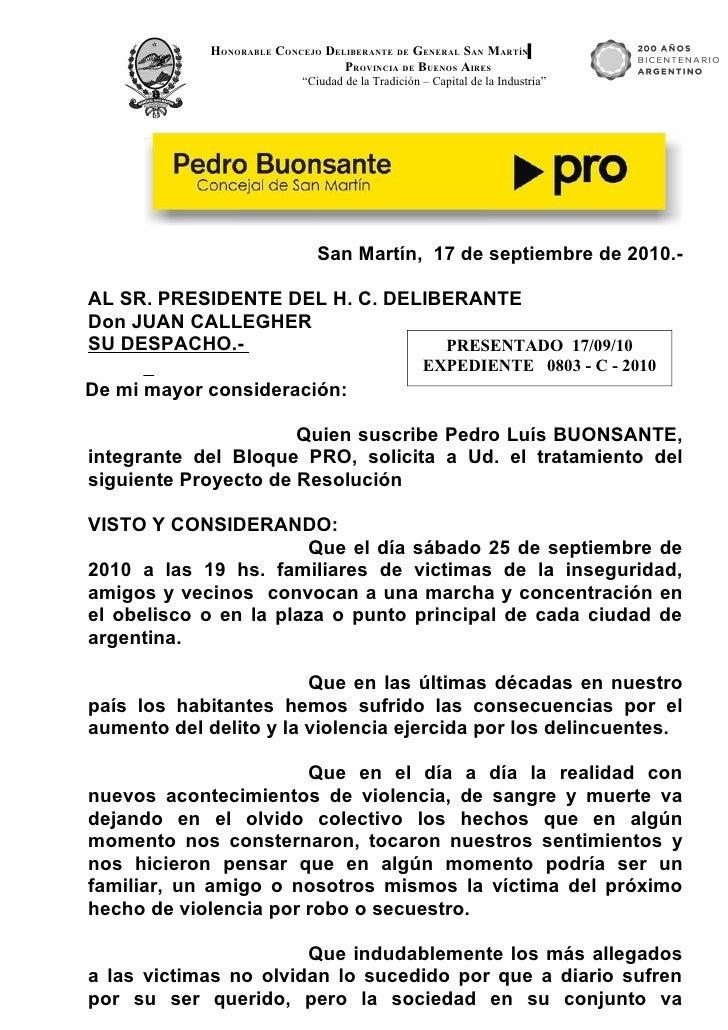 HONORABLE CONCEJO DELIBERANTE DE GENERAL SAN MARTÍN                                   PROVINCIA DE BUENOS AIRES           ...