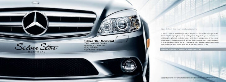 2010 mercedes benz c class montreal canada for Silver star mercedes benz montreal