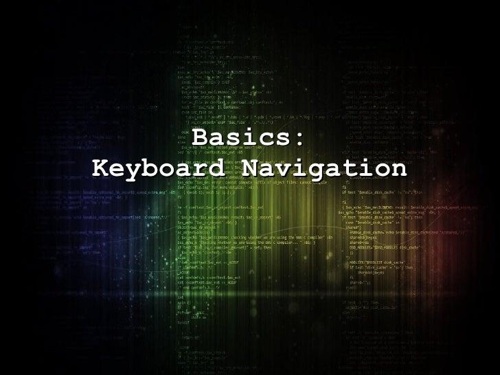 Basics: Keyboard Navigation