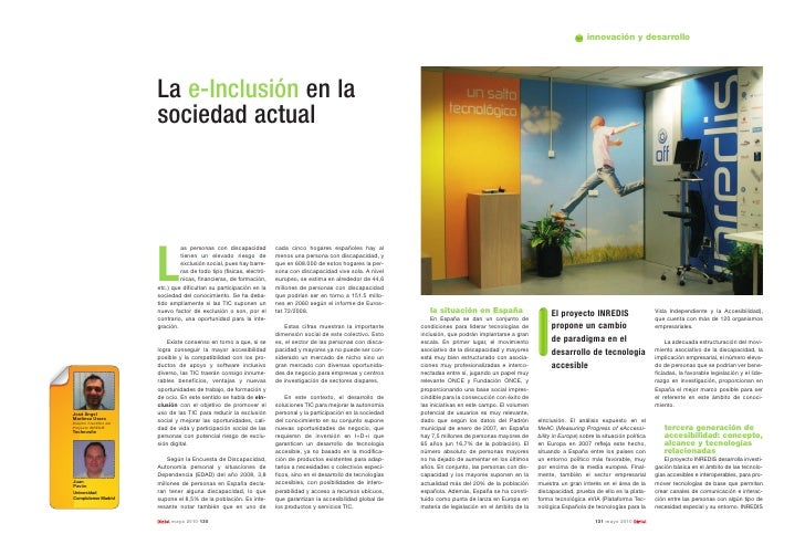 innovación y desarrollo                               La e-Inclusión en la                           sociedad actual      ...