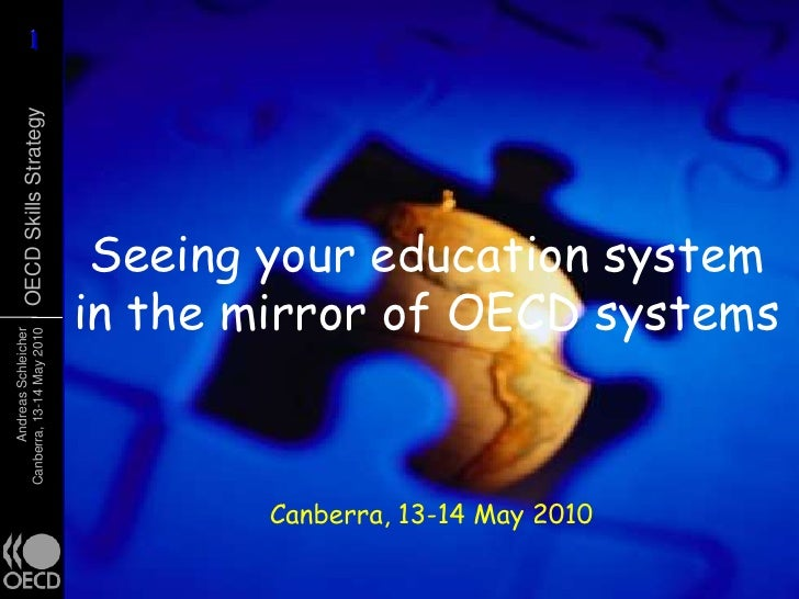 Seeing your education system in the mirror of OECD systems<br />Canberra, 13-14 May 2010<br />