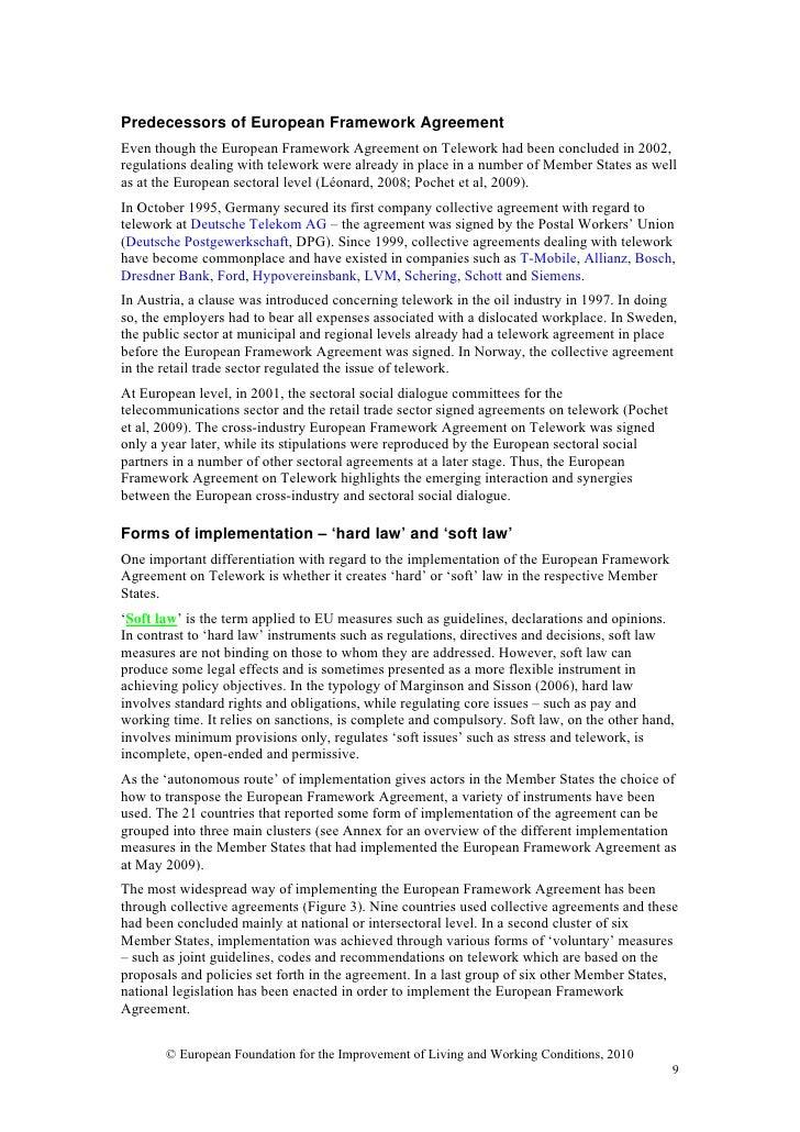 telework agreement template ne0226 teleworking agreement template telework in the european union