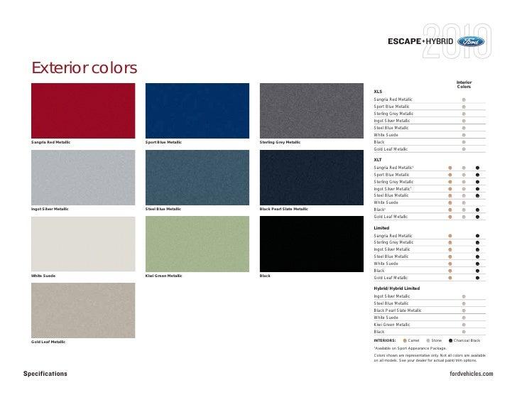 breathtaking 2010 ford escape interior colors ideas - simple design