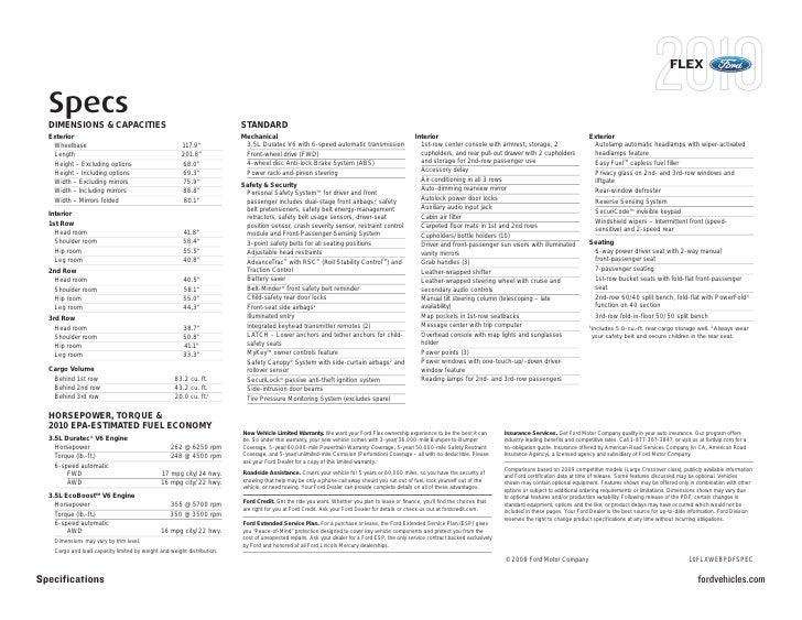Flex Specs Dimensions