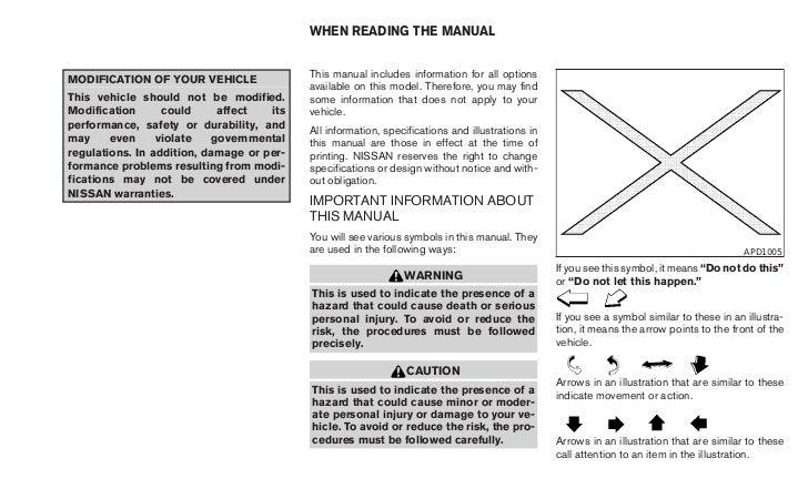 2010 frontier owner s manual rh slideshare net 2010 nissan pathfinder service manual pdf 2010 nissan frontier pro-4x owner's manual