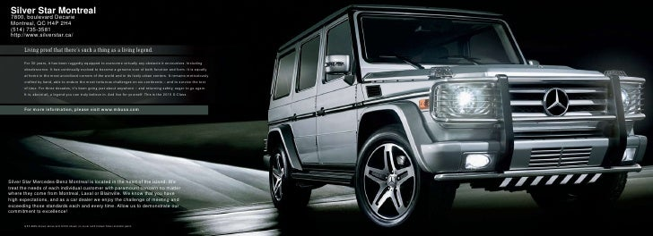 2010 mercedes benz g class montreal canada for Silver star mercedes benz montreal
