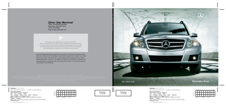 2010 mercedes benz glk class montreal canada for Silver star mercedes benz montreal