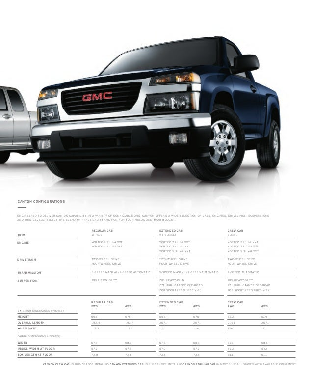 2010 gmc canyon toledo brochure 13 638 - 2010 Gmc Canyon Extended Cab Wt 4wd 3 7l