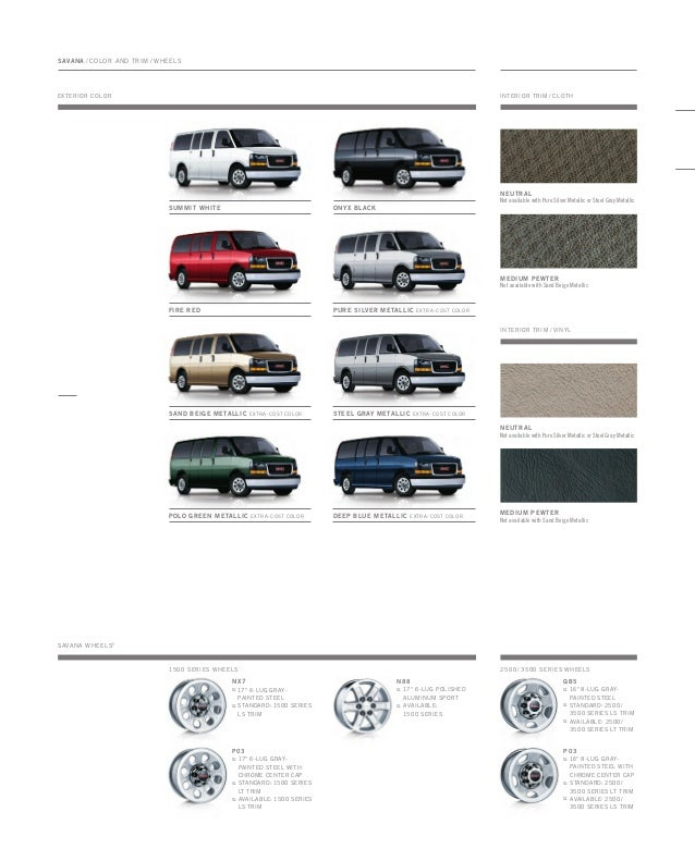 Buick Toledo: 2010 GMC Savana Toledo Brochure