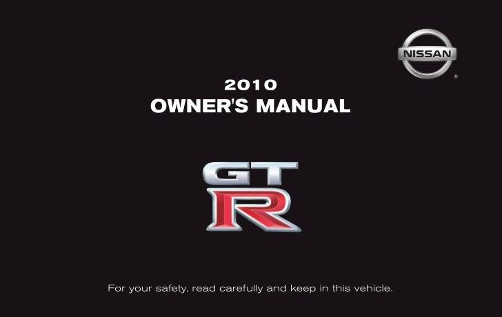 2010 gt r owner s manual rh slideshare net 2003 Nissan GT-R 1996 Nissan GT-R