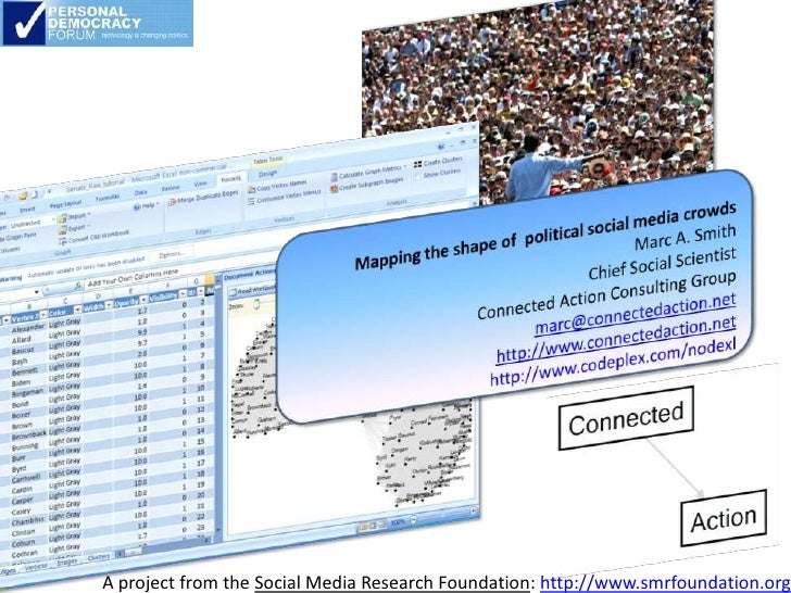 A project from the Social Media Research Foundation: http://www.smrfoundation.org