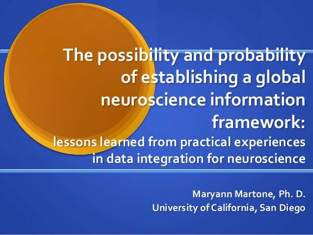 The possibility and probabilityof establishing a globalneuroscience informationframework:lessons learned from practical ex...