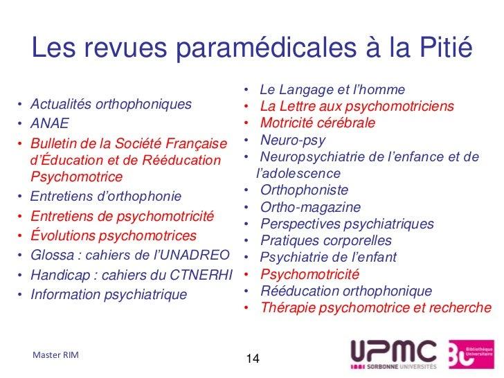 Les revues paramédicales à la Pitié                                     •    Le Langage et l'homme• Actualités orthophoniq...
