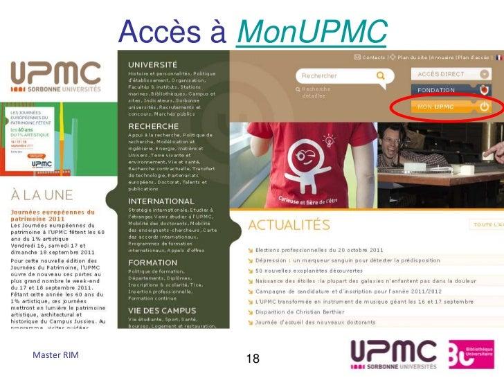 Accès à MonUPMCMaster RIM          18