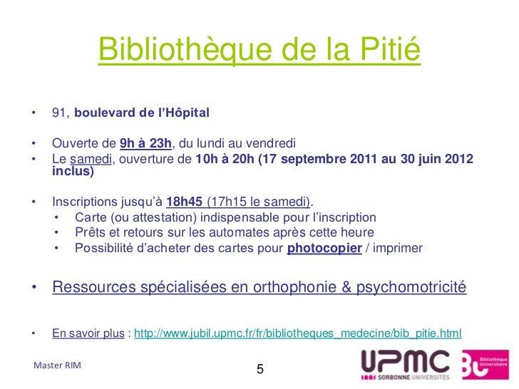 Bibliothèque de la Pitié•   91, boulevard de l'Hôpital•   Ouverte de 9h à 23h, du lundi au vendredi•   Le samedi, ouvertur...