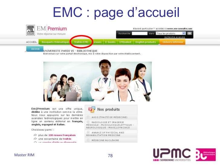 EMC : page d'accueilMaster RIM           78