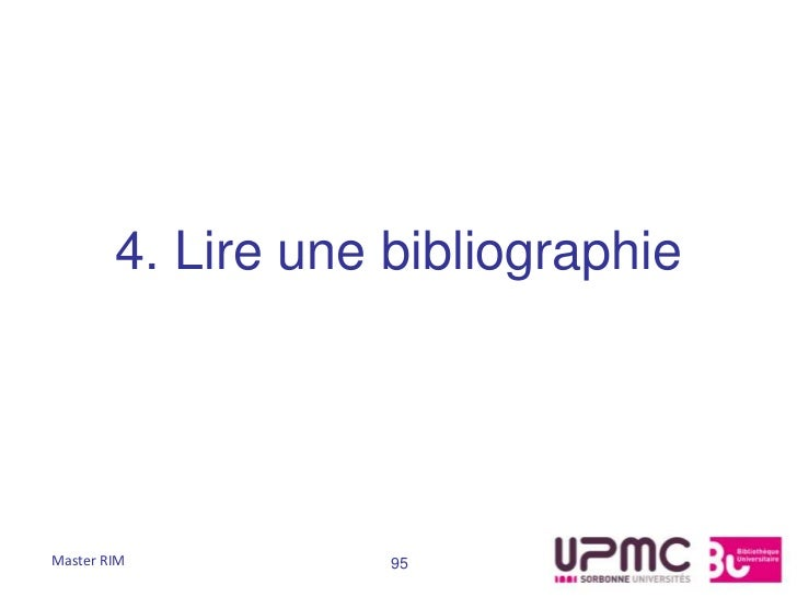 4. Lire une bibliographieMaster RIM          95