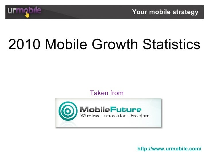 http://www.urmobile.com/ Your mobile strategy  2010 Mobile Growth Statistics Taken from