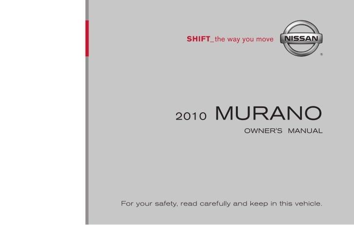 2010 murano owner s manual rh slideshare net 2015 Murano 2006 Murano