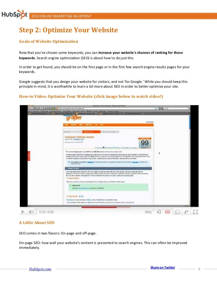 2010 online marketing blueprint 6 2010 online marketing blueprint step 2 malvernweather Images