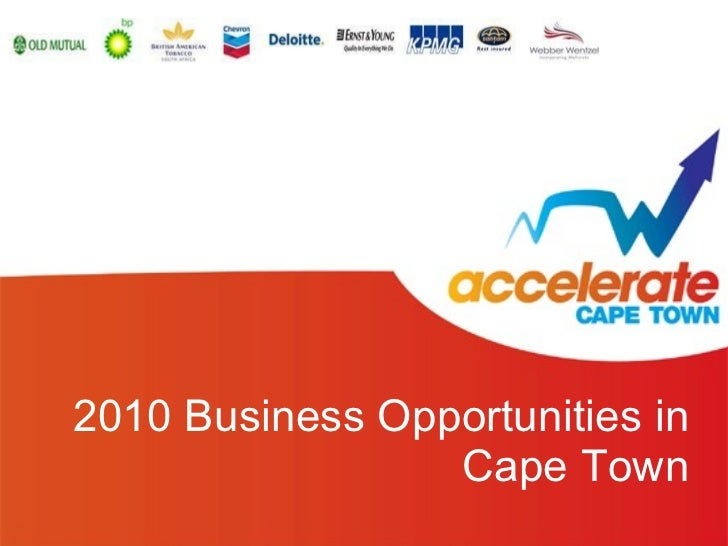 2010 Business Opportunities in Cape Town