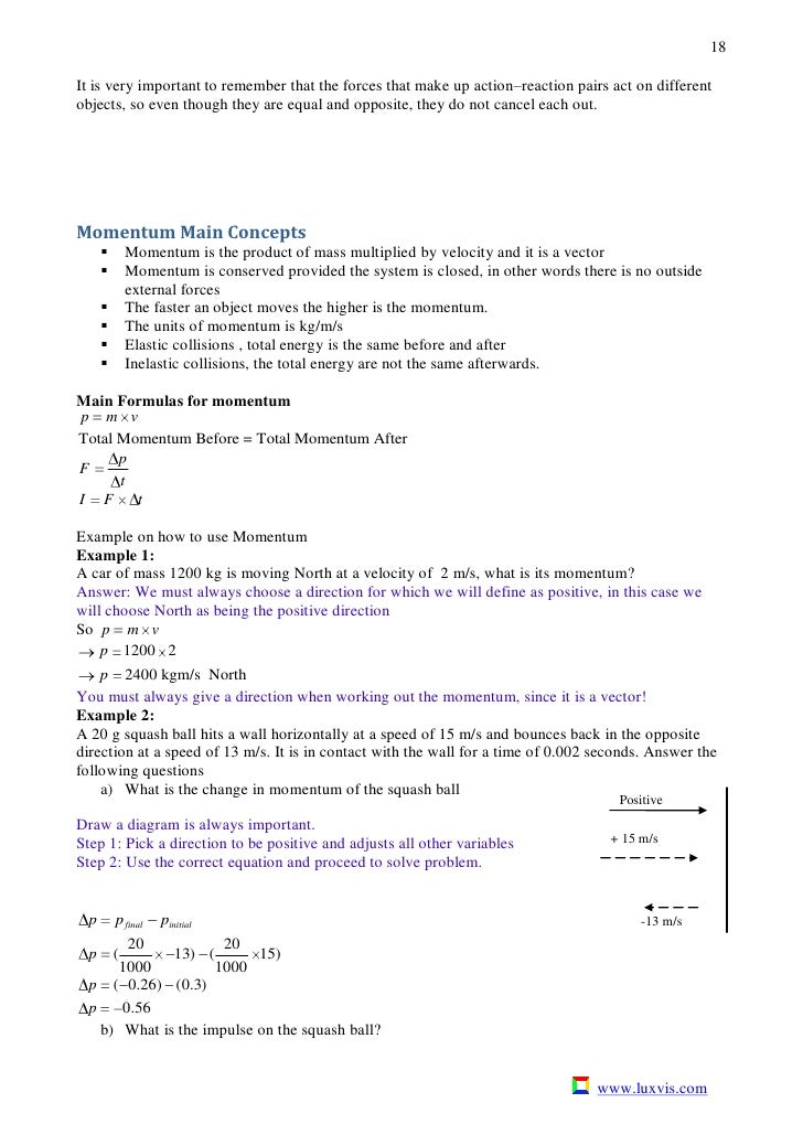 2010 Phy V1 – Calculating Momentum Worksheet