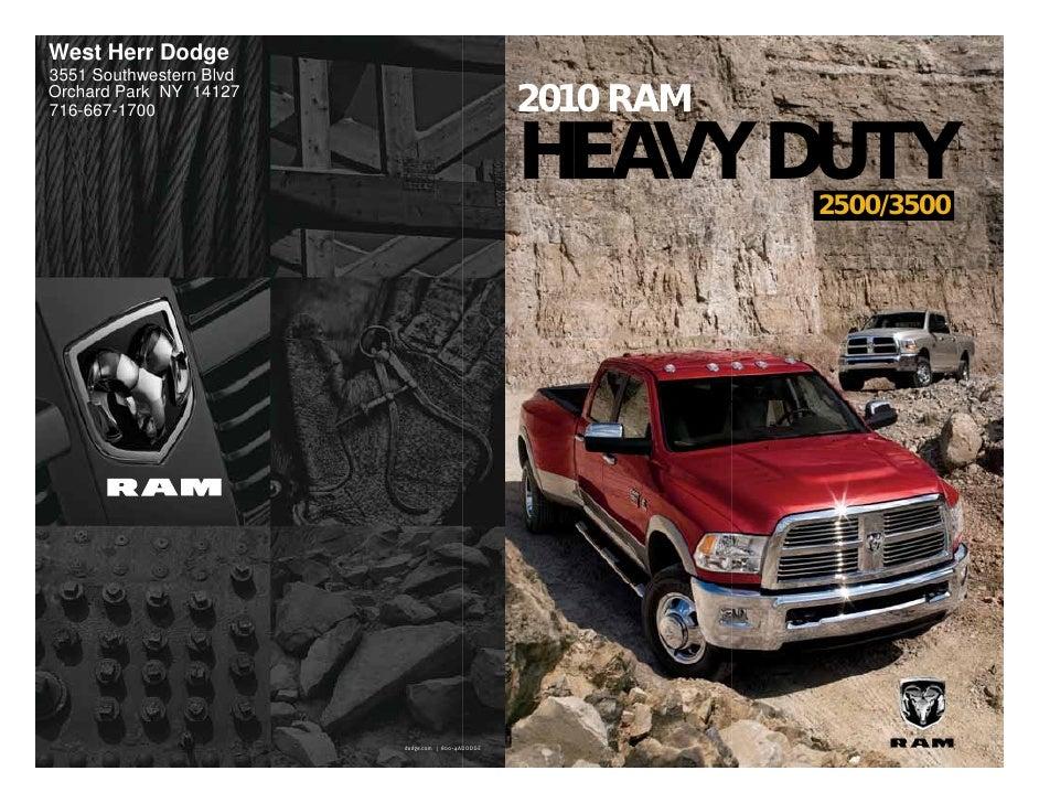 West Herr Dodge 3551 Southwestern Blvd Orchard Park NY 14127 716-667-1700                                       2010 RAM  ...