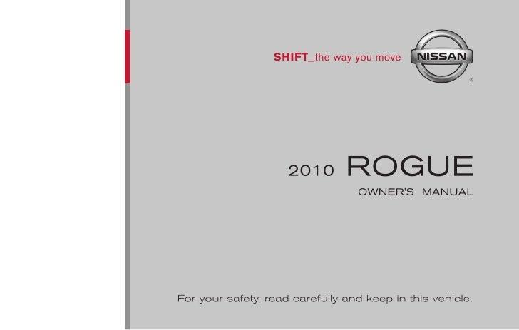2010 rogue owner s manual rh slideshare net 2010 nissan rogue owner's manual 2010 nissan rogue service manual